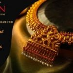 Discover new creations crafted with the essence of tradition and cultured antique necklace jewellery designs at BMN Thangamaaligai