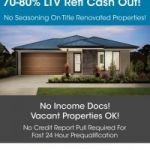 CASH OUT REFINANCE FOR INVESTORS - 12 MONTH TERM UP TO 80% LTV!