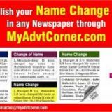 Name Change Classified Ad in Newspaper