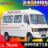 Get Best and Fast Medilift Road Ambulance in Varanasi for Patient Shifting