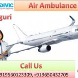 Take Best Medivic Aviation Air Ambulance Service in Siliguri with Medical Team