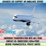 Hire Medivic Air Ambulance Service in Guwahati with Advanced Medical Setup