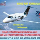 King Air Ambulance Services in Guwahati Available at 24 hours