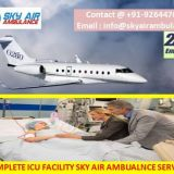 Avail Safe Patient Shifting from Ahmedabad by Sky Air Ambulance