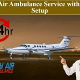 Utilize Air Ambulance Service in Kharagpur with Urbanized Medical Equipments