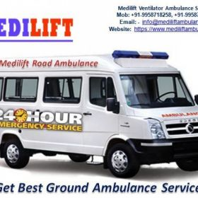 Get Medilift Medical Ground Ambulance Service in Hatia for Best ICU Facility