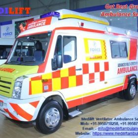 Get Affordable Cost Medilift Ambulance Service in Railway Station with ICU Setup
