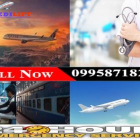 Avail Inexpensive Life-Support Medilift Air Ambulance in Ranchi