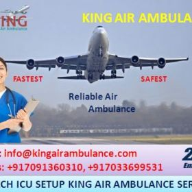 Air Ambulance in Bangalore with Medical Facility by King