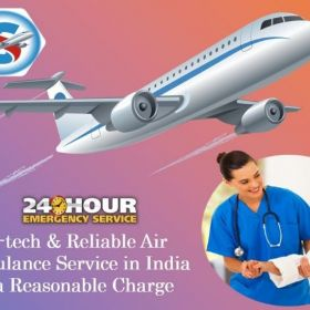 Utilize Charter Air Ambulance Service in Varanasi at Genuine Cost