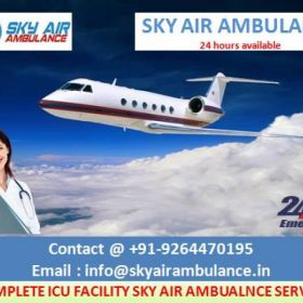 Get Sky Air Ambulance Service in Bagdogra with Trusted Medical Staff