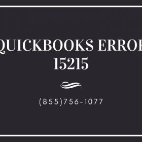 Avail the best solutions for QuickBooks Error 15215 at (855)756-1077