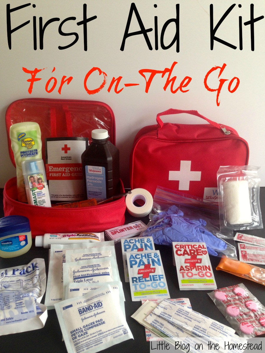 First Aid Kit When Traveling With Children
